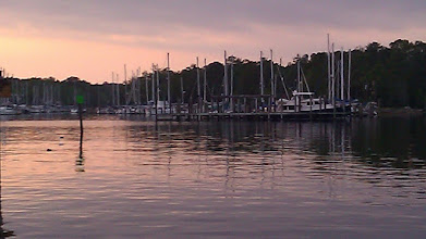 Photo: Whitaker Pointe Marina looking west towards a marina in Oriental.