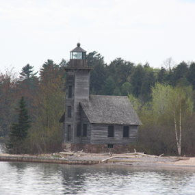 abandoned lighthouse by Logan Williams - Buildings & Architecture Decaying & Abandoned ( lighthouse, pictured rock, lake superior, water, light house,  )