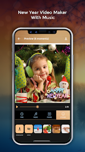 New Year Video Maker With Music - náhled