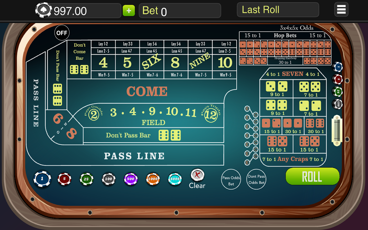 Craps -The Intimidating Table Game