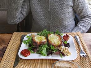 Photo: Marcia orders Salade de Chevres Chaud