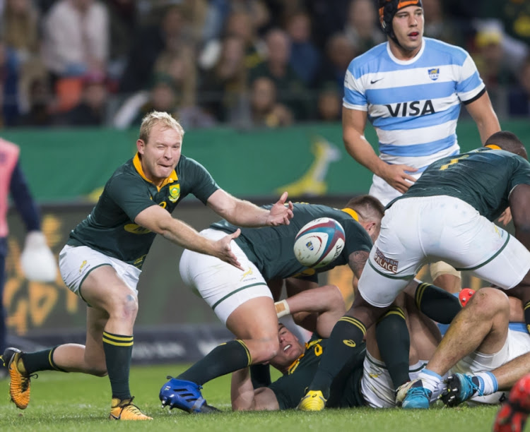 Ross Cronje of the Springbok Team during the Rugby Championship match between South Africa and Argentina at Nelson Mandela Bay Stadium on August 19, 2017 in Port Elizabeth, South Africa.