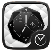 Black and White Go Clock Theme