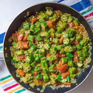 Curried Okra and Tomato