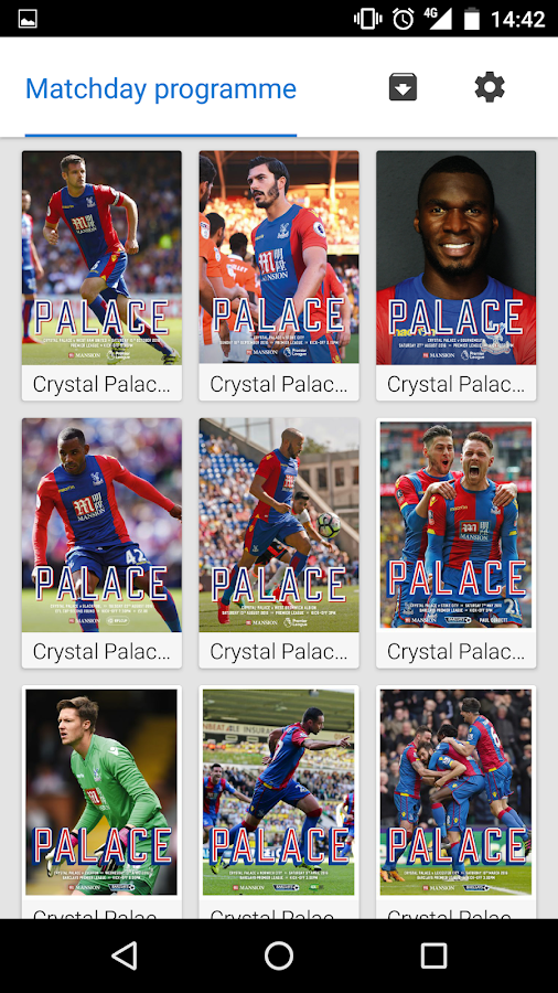 Crystal Palace FC - programmes- screenshot