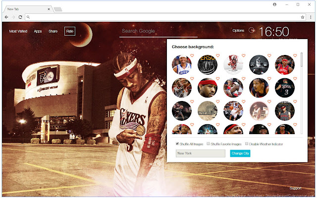 NBA Allen Iverson Wallpapers New Tab Themes