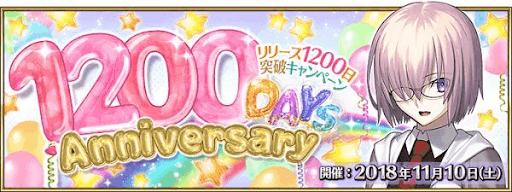 1200日キャンペーン