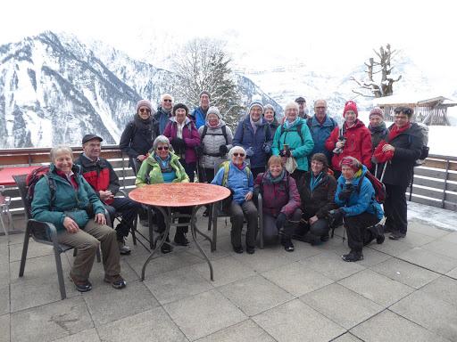 Ein Gruppenfoto vom Winter-Spaziergang Braunwald im Februar 20118