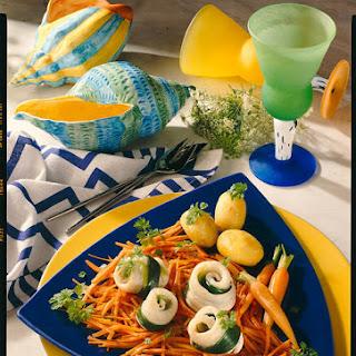 Fish Rolls with Saffron Vegetables