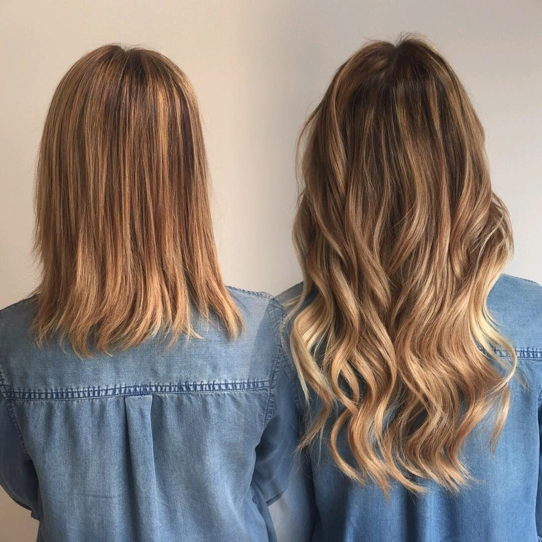 Pin by Bombshell Extension Co. on HAIR BEFORE/AFTERS | Tape in hair  extensions, Hot heads hair extensions, Hair extensions for short hair