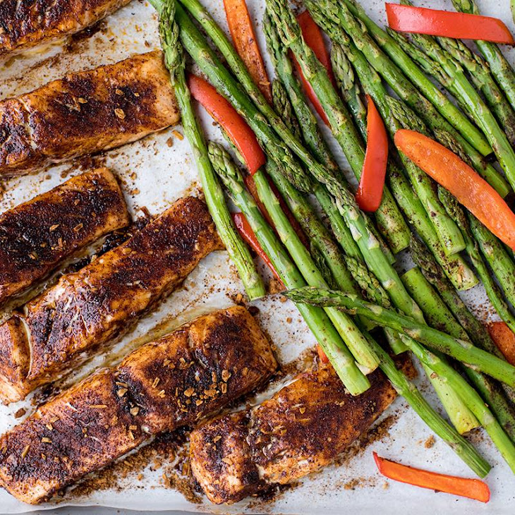 Orange Chili Sheet Pan Salmon