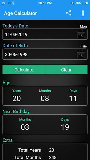 Age Calculator 6.2 screenshots 2