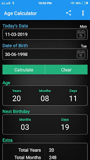 AGE CALCULATOR MOBILE APP