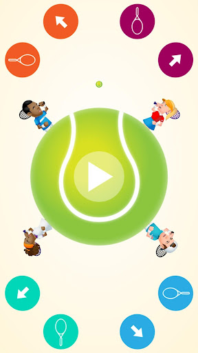 Circular Tennis 2 Player Games screenshot 2