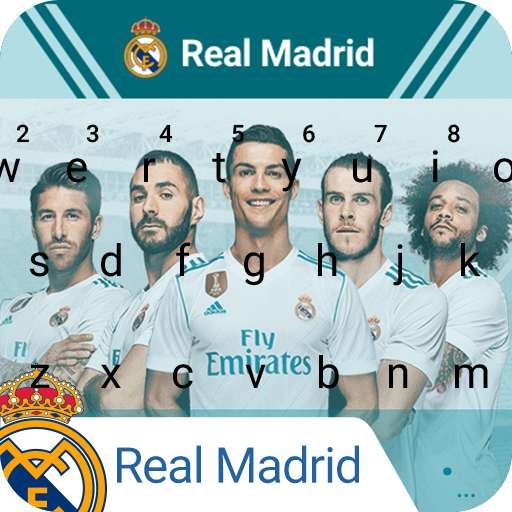 Real Madrid Los Blancos Keyboard Theme