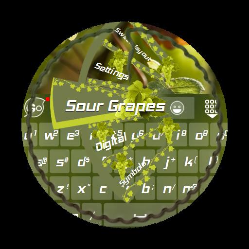 個人化App|吃不到葡萄說葡萄酸 GO Keyboard Theme LOGO-3C達人阿輝的APP