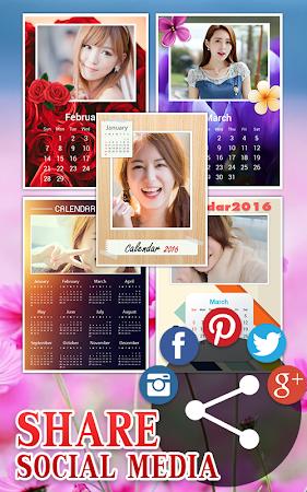 Calendar Photo Frame 2016 1.1 screenshot 428961