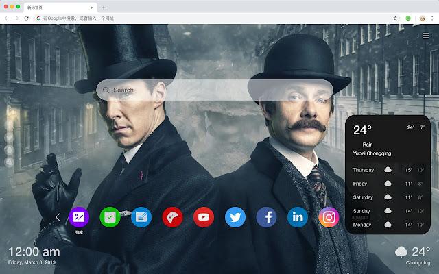 Benedict Cumberbatch New Tab HD Theme