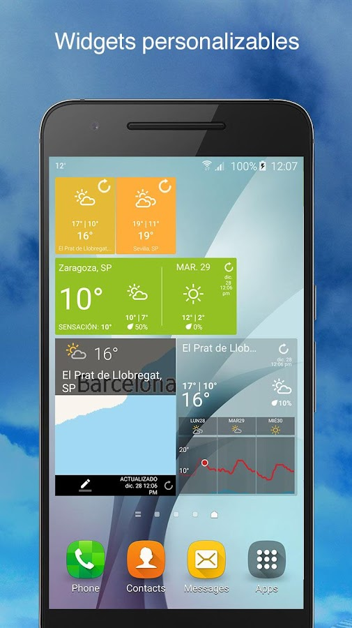 Weather Underground: captura de pantalla