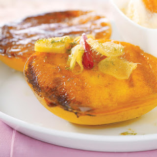 Grilled Mango in Ginger Syrup