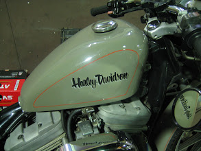Photo: harley davidson lettering & pinstriping
