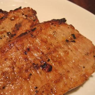 Grilled Pork Chops Diablo.