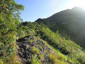 北葛岳への稜線