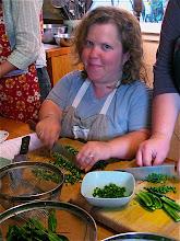 Photo: Rachel chopping chillies