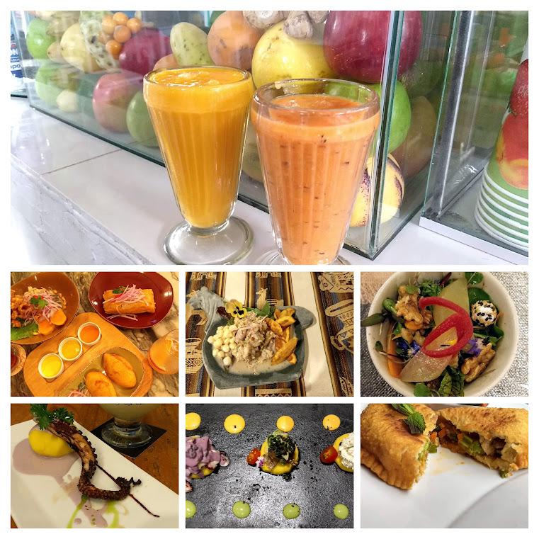 Incredible array of food we enjoyed throughout Peru
