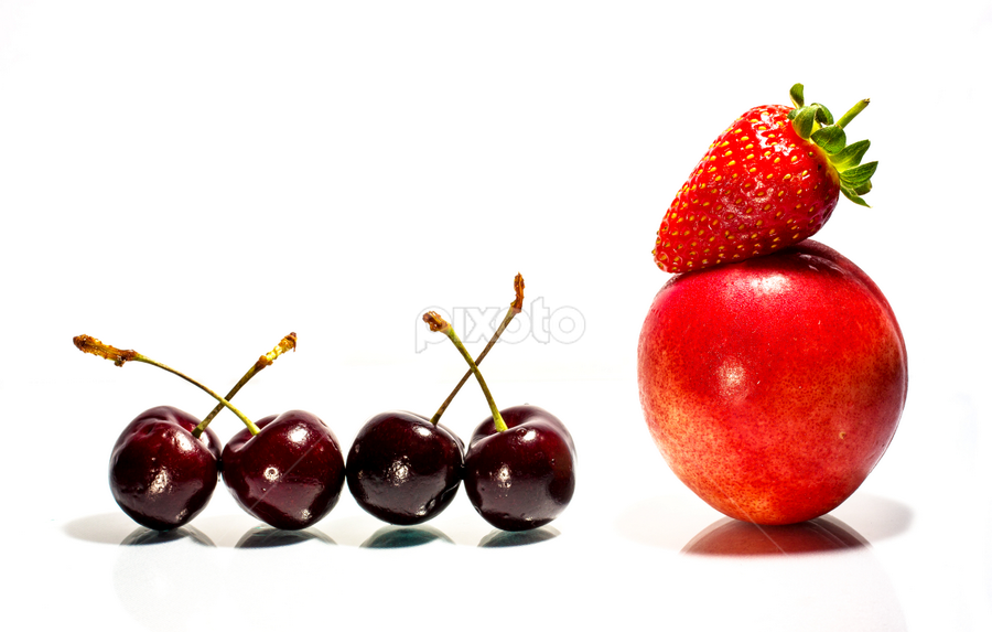 Shades of Red by Ellen Foulds - Food & Drink Fruits & Vegetables ( cherry, macro, fruits, nectarine, strawberry )