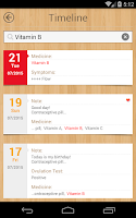 Screenshot of Period Calendar / Tracker