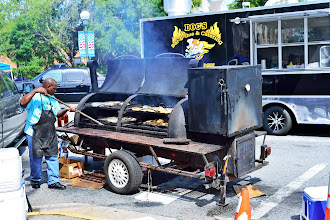 Photo: Yesterday was the annual downtown barbeque cook off. It was hot and smokey and I should have stayed longer.
