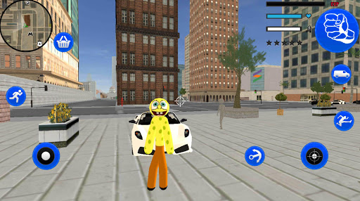 Sponge Stickman Rope Hero Vegas Gangstar Crime screenshot 1