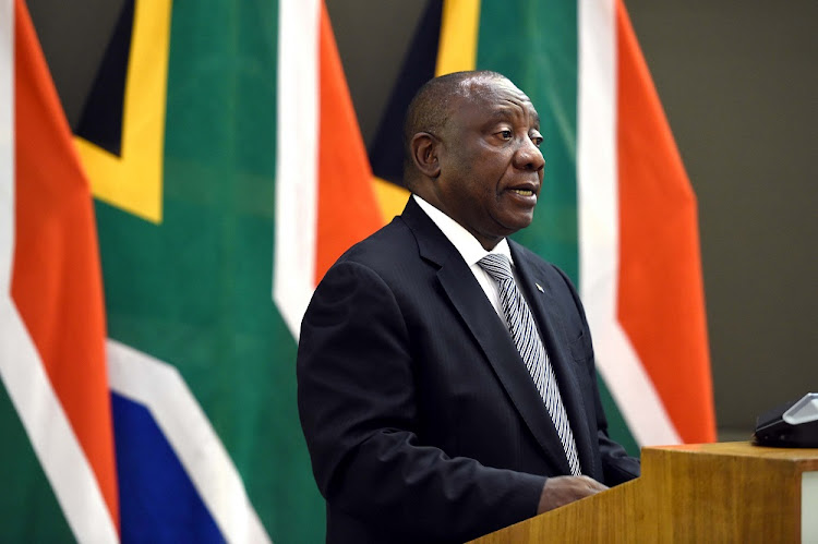 President Cyril Ramaphosa said SA will work with Botswana on issues such as the opening and closing of borders during the Covid-19 pandemic. File photo.