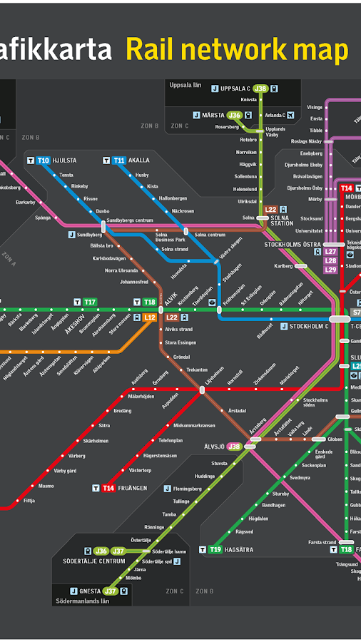 Stockholms Tunnelbana Android Apps On Google Play - Sweden tunnelbana map