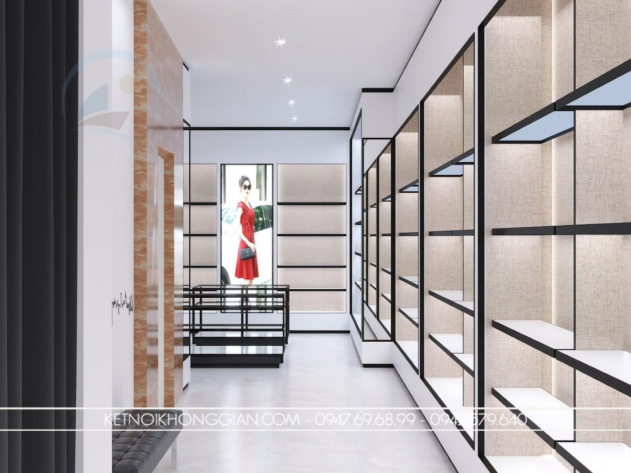 tủ trưng bày sát tường