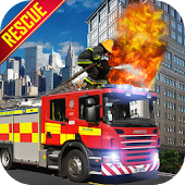 US City Rescue Fireman Simulator-Fire Brigade Game