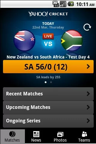 Yahoo Cricket screenshot 2