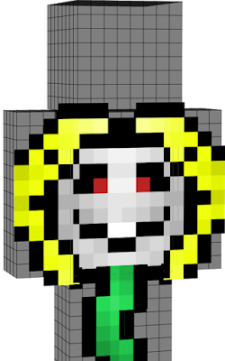 I DO NOT own the original flowey skin! I only added the face expression! The original artist of this skin is UNKNOWN! If you know the artist, Please go tell them how amazing of a person they are!