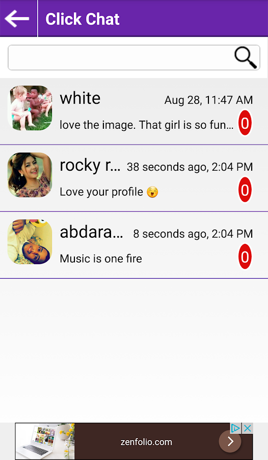 Click Chat- screenshot