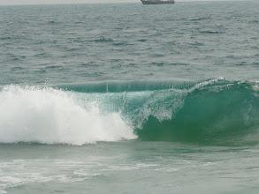 Photo: baignade très dangereuse, mais eau chaude, dommage !