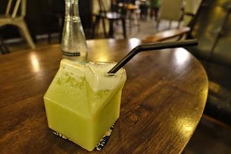 Photo: Malacca - juice in glass juice box