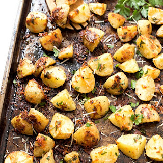Garlic Parmesan Pan Roasted Potatoes.