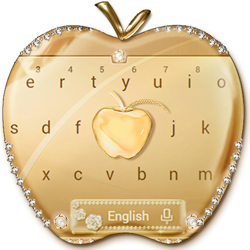 Crystal Gold Keyboard Keyboard Theme