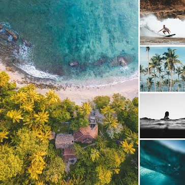 Beachfront Collage - Instagram Carousel Ad Template