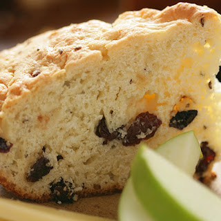 Skillet Irish Soda Bread Served With Cheddar and Apples