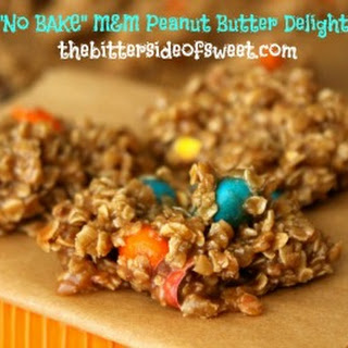 No Bake M&M Peanut Butter Delights