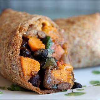 Roasted Veggie and Black Bean Burritos.