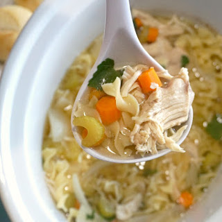 Chicken Soup In The Crockpot.