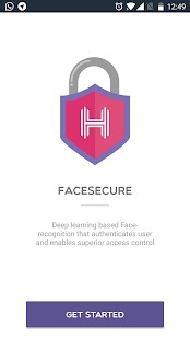 FaceSecure - náhled